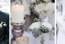 Свадьба зимой: декор кристально белоснежный