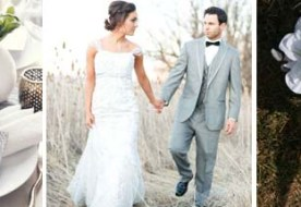 Серый цвет свадьбы и его дымчатые сочетания