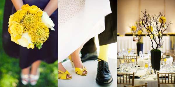 желтые носки и туфли молодожен