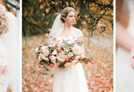 Свадьба осенью: золотой гранатовый декор с яркими фруктовыми акцентами