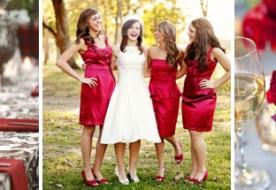 Свадебная палитра: страстный красный в деталях