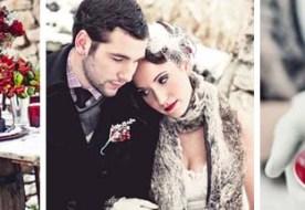 Свадьба зимой: белый декор разбавляем насыщенным бордо