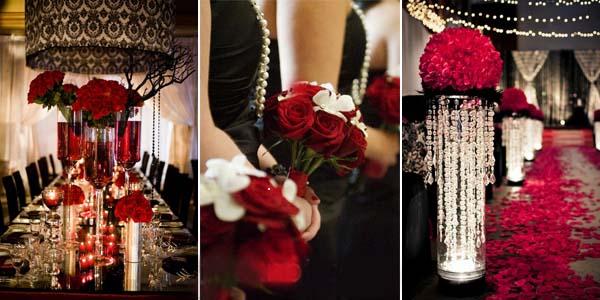 свадебные цвета черный и красный