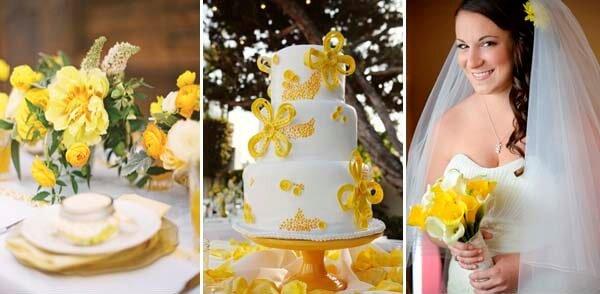 желтый цвет в букете невесты
