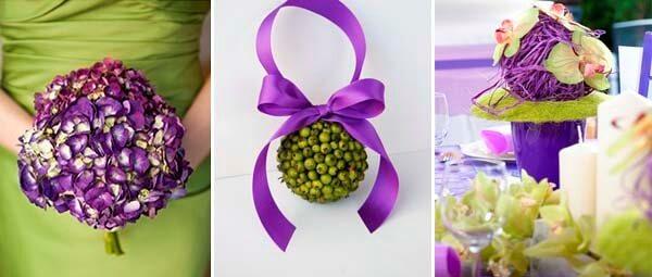 сиреневый и оливковый в букете