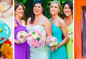 Яркая цветная свадьба - красный, синий, голубой… выбирай себе любой