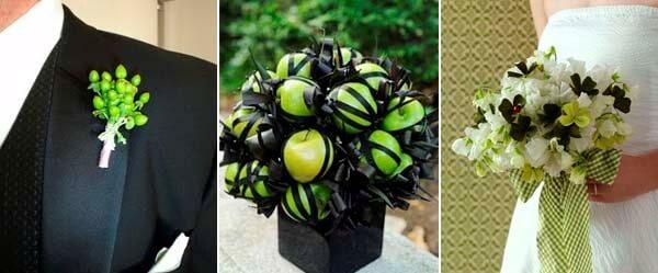 зеленый и черный в свадебном образе жениха