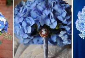 Синий свадебный букет: самый загадочный цвет для невесты