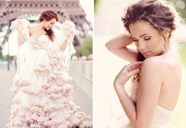 воздушная свадьба в Париже