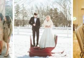 Свадьба зимой солнечным днем: яркий декор для счастливчиков