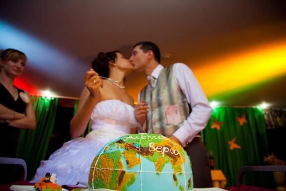свадебный торт - глобус