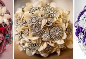 Зимний свадебный букет в винтажном стиле: своими руками!