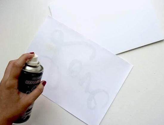 обработка спреем бумаги