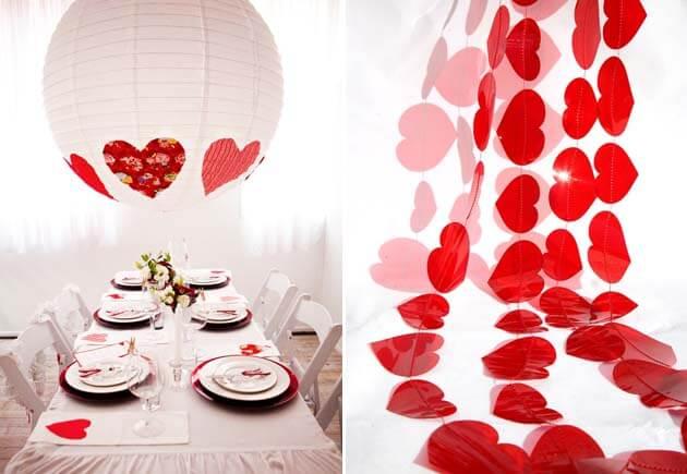 свадебный декор с сердечками