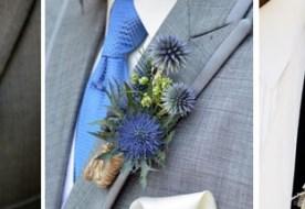 Свадебные бутоньерки жениха: маленький, но стильный букетик