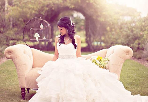 Винтажная свадебная мебель в декоре