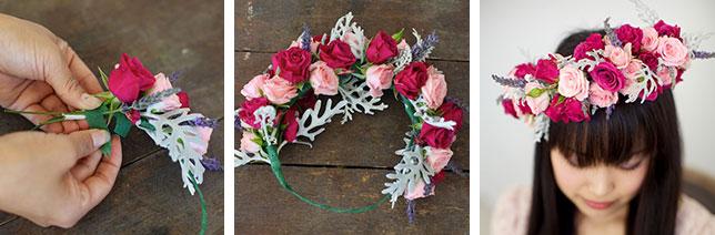 Плетем венок из цветов для свадебной прически