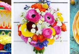 Как оформить свадьбу в разных цветах