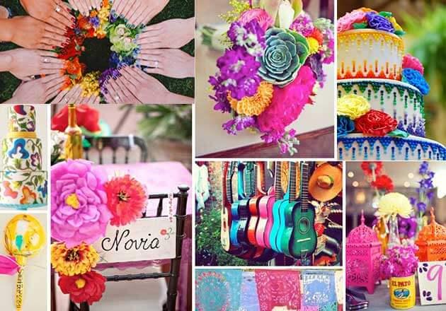 Как оформить цветную свадьбу?