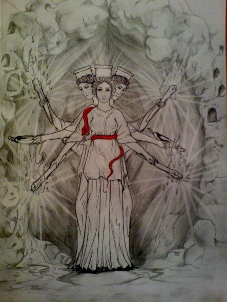 Hecate, triuna, desenho de georgi mishev
