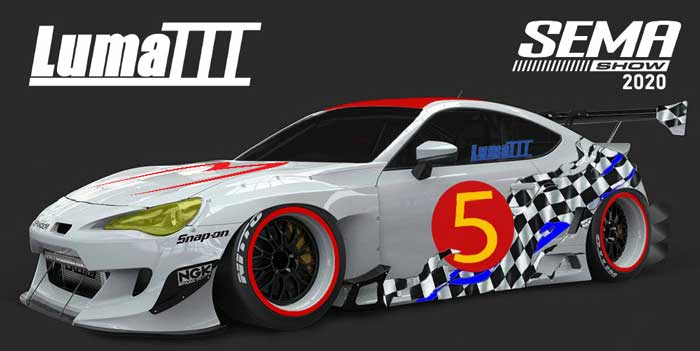 Sema 2020 brz rendering and graphic.