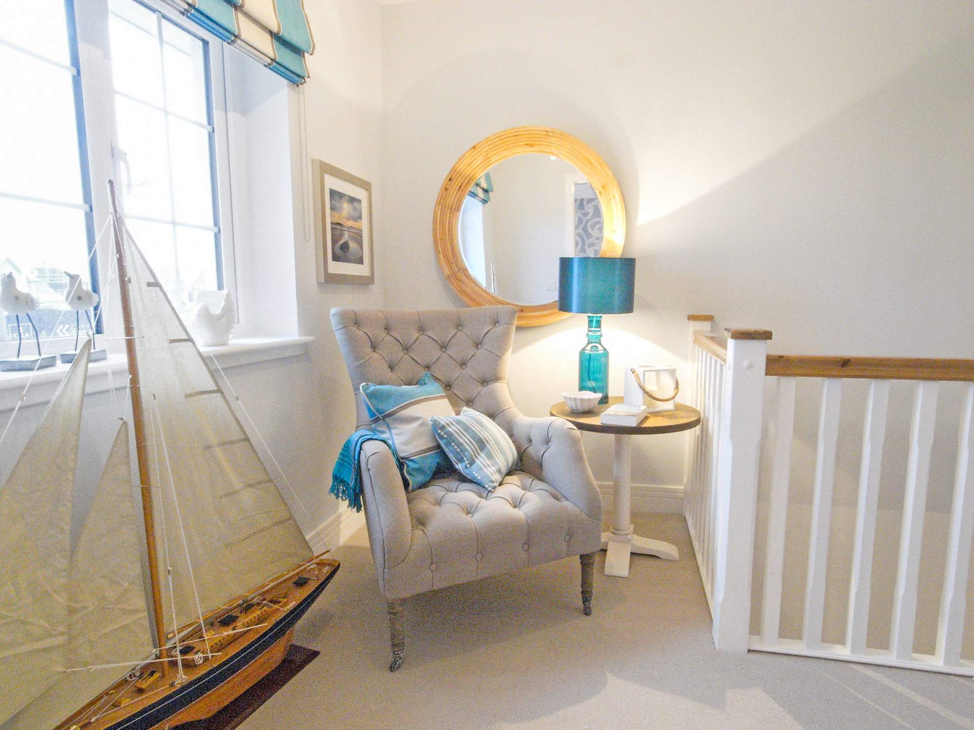 Nautical corner with chair for relaxing - Interior Design Advice Edinburgh & Fife