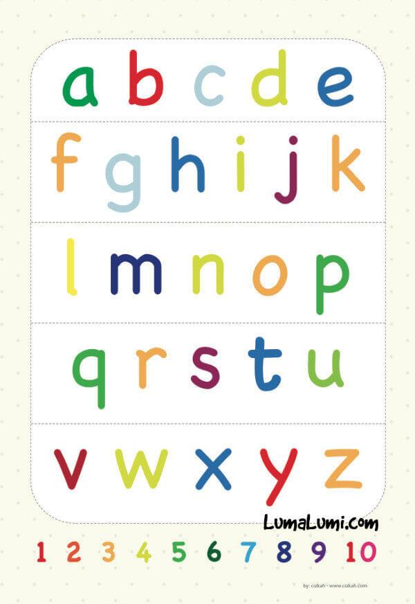 belajar huruf abjad untuk anak-anak poster