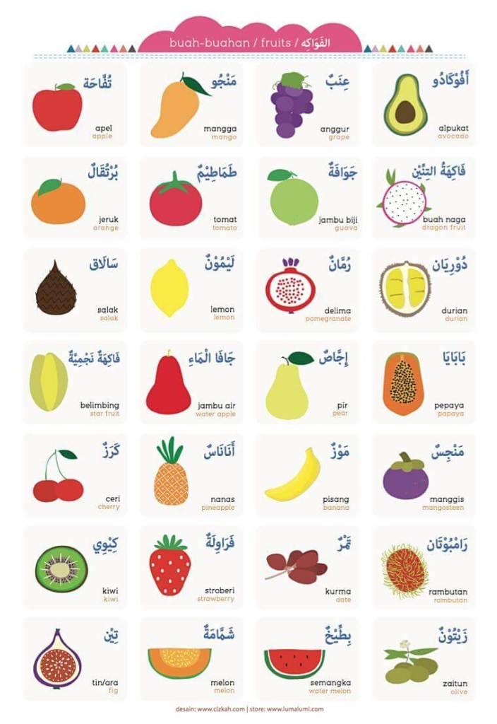 jual poster buah