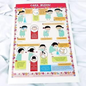 poster cara wudhu untuk anak