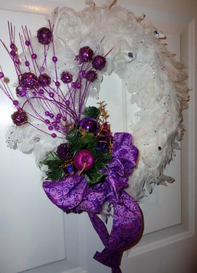 White purple wreath 001