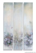 """""""Fleur de Ladies"""" 42x72 inch triptych, acrylic, sand, resin on (3) canvases"""