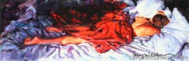 """""""Morning Bliss"""" 12x36 in. acrylic on canvas"""