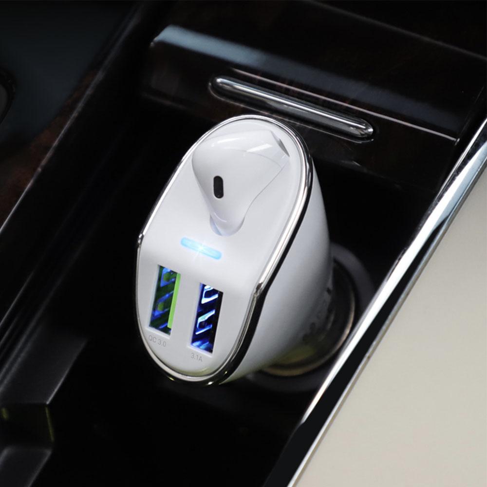 Casca bluetooth cu incarcator pentru masina AUTO