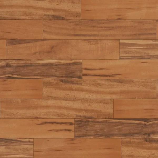 6 in x 36 in elegant wood brazilian koa porcelain tile