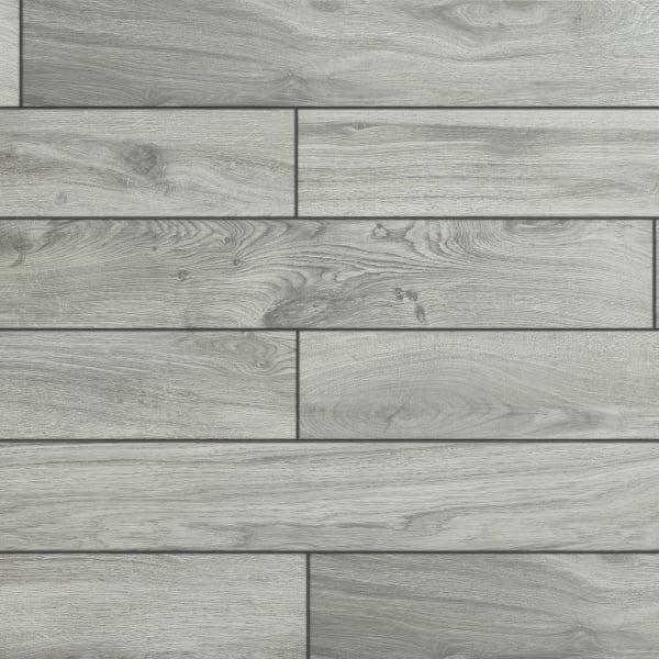 6 in x 36 in oceanside oak gray hd porcelain tile