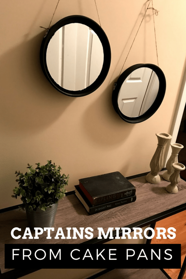 Creating captain's mirrors from cake pans