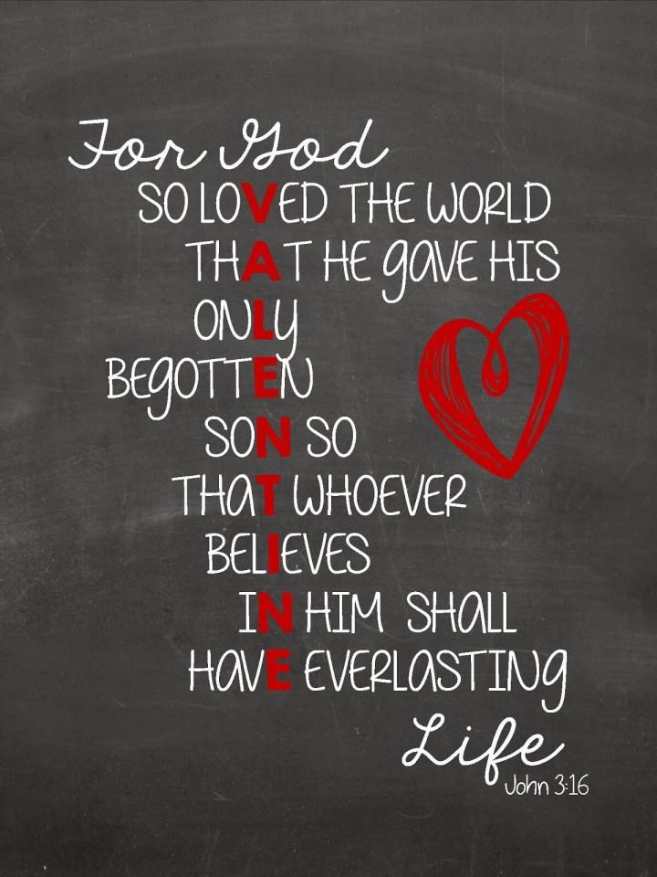 Sunday Musings: John 3:16
