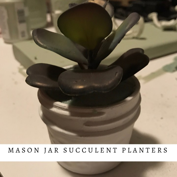 Make it Monday: mason jar succulent planter