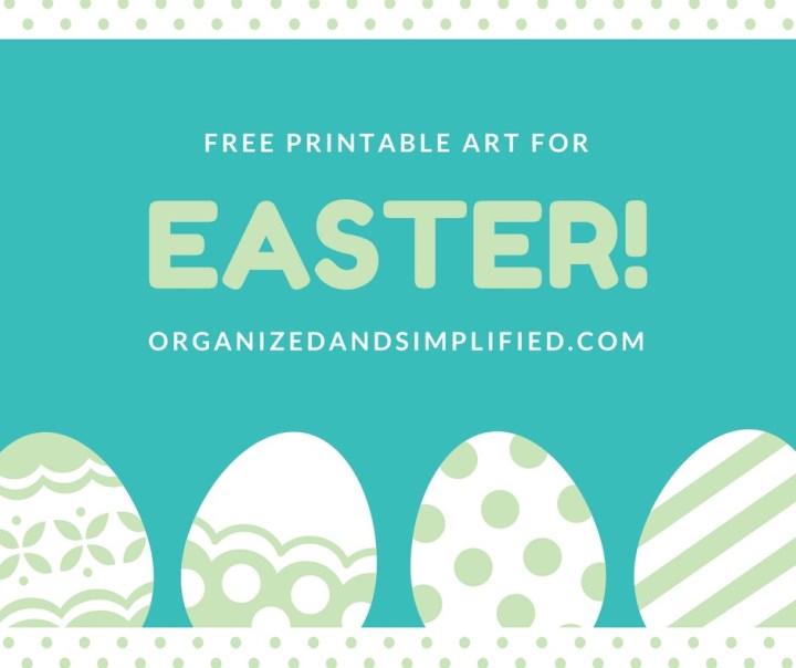 Free Easter printable art