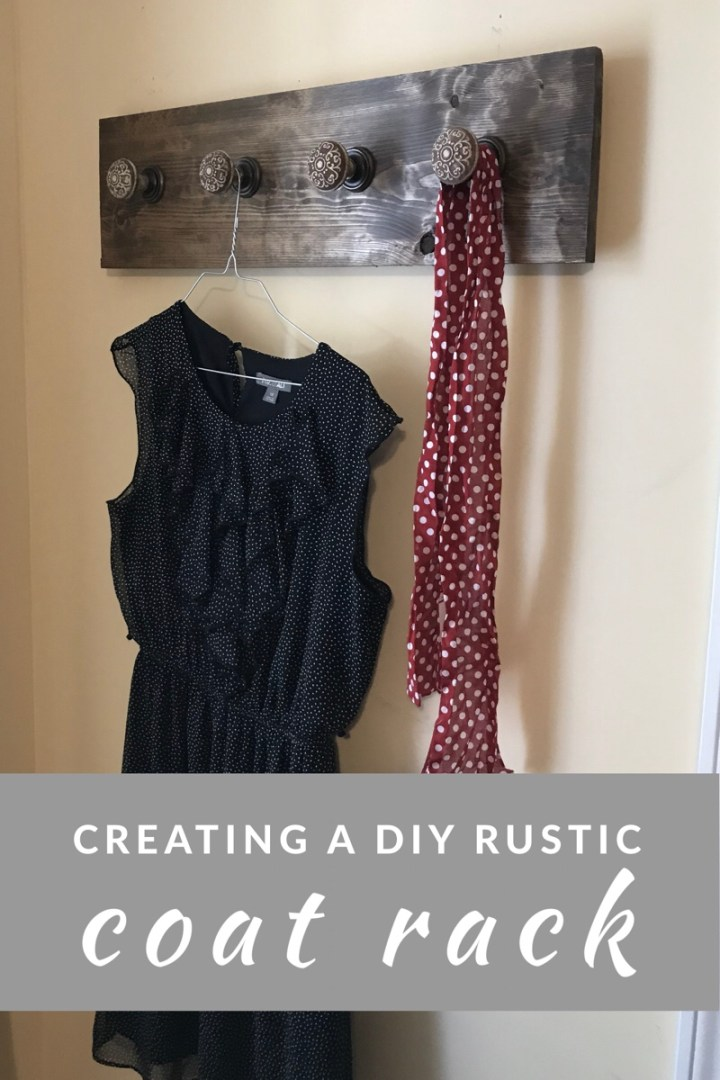Creating a DIY Rustic Coat Rack