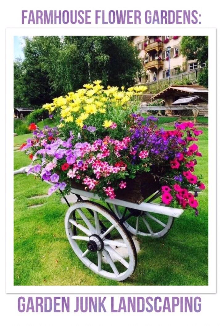 Farmhouse Friday: farmhouse flower gardens