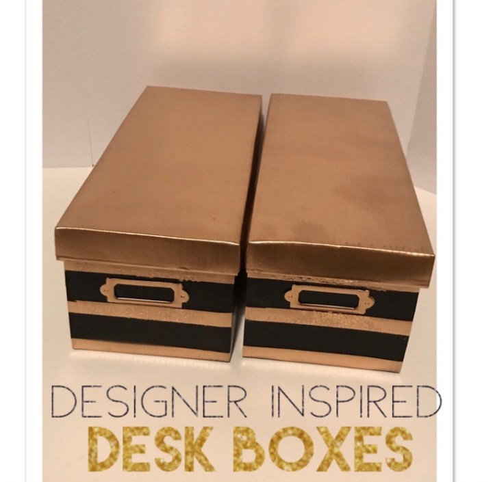 DIY Kate Spade Inspired Desk Boxes