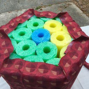 pool noodle footstool