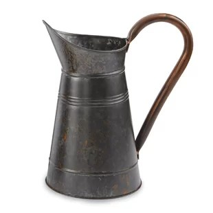 farmhouse-galvanized-decorative-pitcher