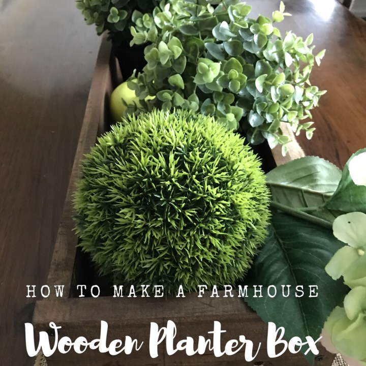 Make it Monday: How to make a farmhouse wooden planter box
