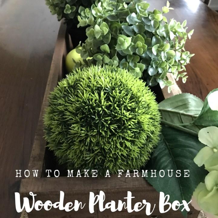 Make it Monday: How to make a farmhouse wooden planterbox