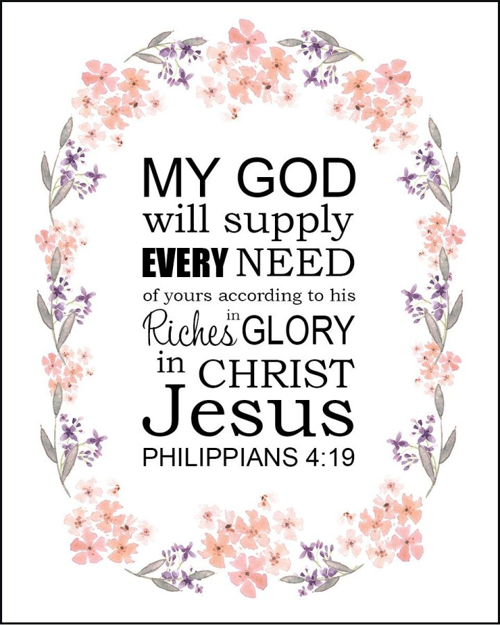 Scripture Sunday: Philippians 4: 19, and How God has provided for me