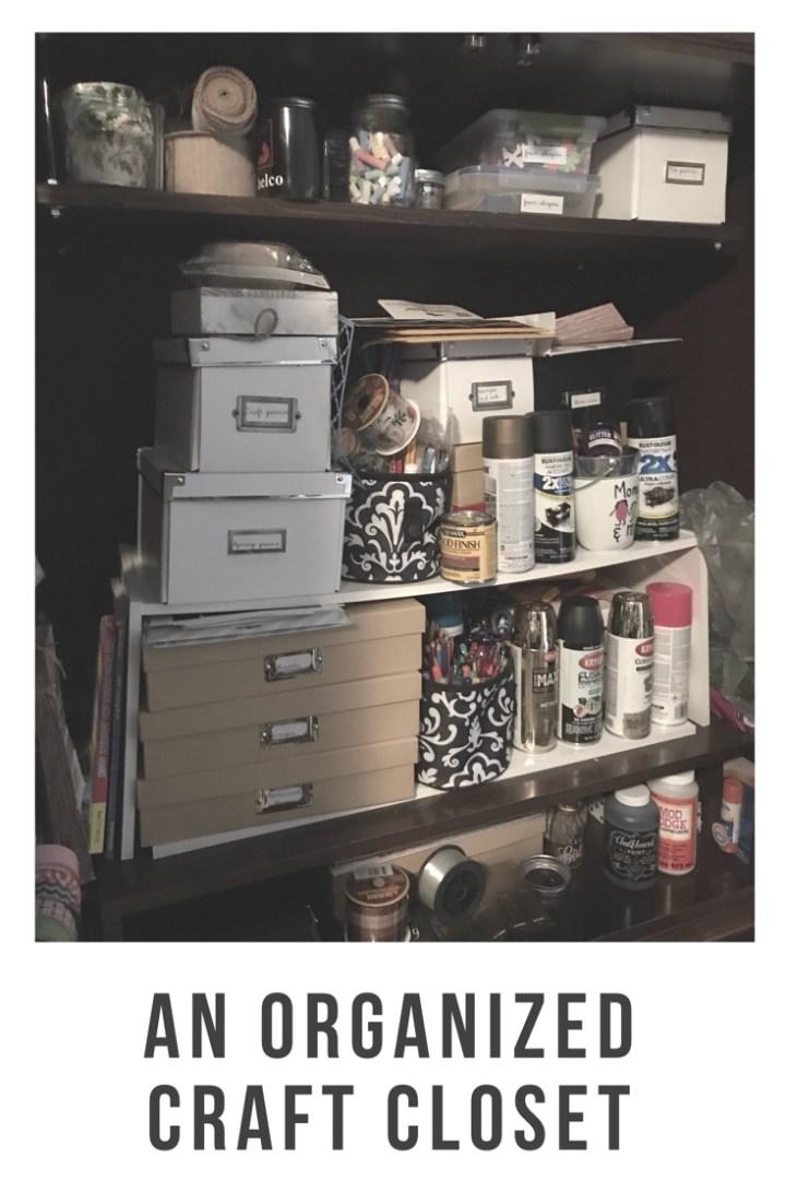 An organized craft cabinet
