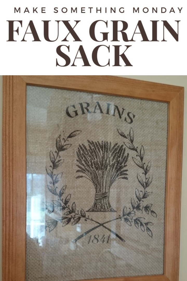 Make Something Monday: faux grain sacks