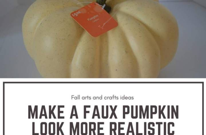 Make a faux pumpkin look more realistic